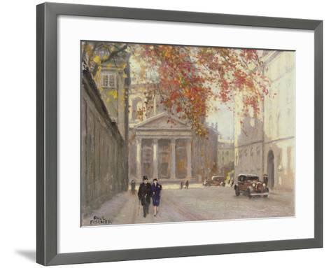 A Street in Copenhagen-Paul Fischer-Framed Art Print