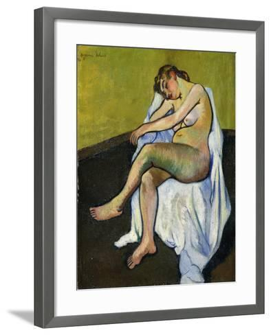 Seated Nude; Nu Assis, 1916-Suzanne Valadon-Framed Art Print