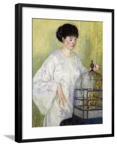 Portrait of Madame Frieseke, C.1912-1913-Frederick Carl Frieseke-Framed Art Print