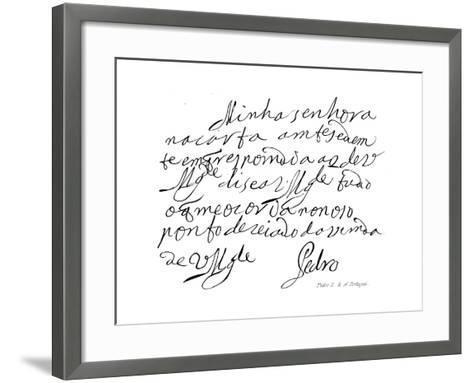 Pedro II, K of Portugal--Framed Art Print
