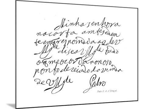 Pedro II, K of Portugal--Mounted Giclee Print