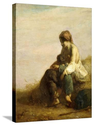 The Wanderers-Jean-Fran?ois Millet-Stretched Canvas Print