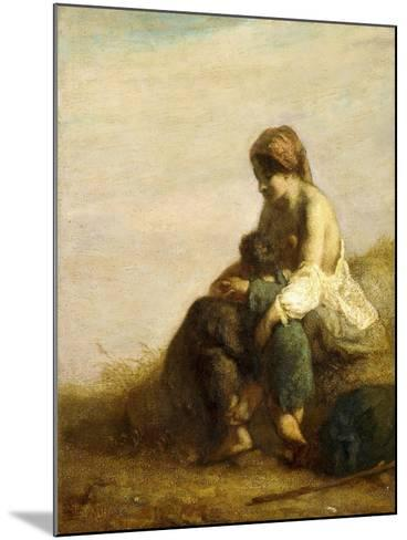 The Wanderers-Jean-Fran?ois Millet-Mounted Giclee Print