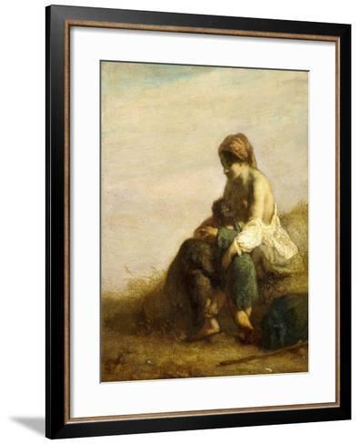 The Wanderers-Jean-Fran?ois Millet-Framed Art Print