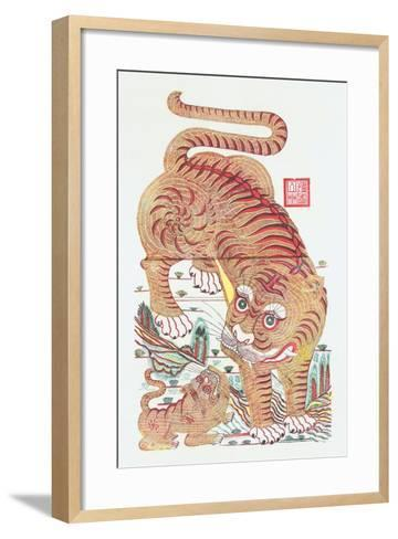 Ferocious Tiger of the Mountain, C.1980S--Framed Art Print