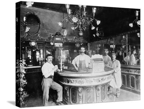 Cafe in Paris, C.1910--Stretched Canvas Print