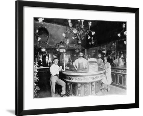 Cafe in Paris, C.1910--Framed Art Print