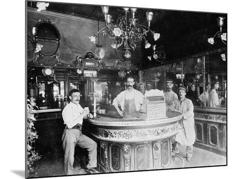 Cafe in Paris, C.1910--Mounted Photographic Print