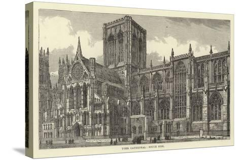 York Cathedral, South Side--Stretched Canvas Print