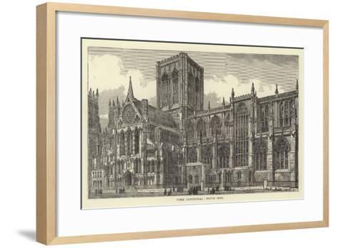 York Cathedral, South Side--Framed Art Print