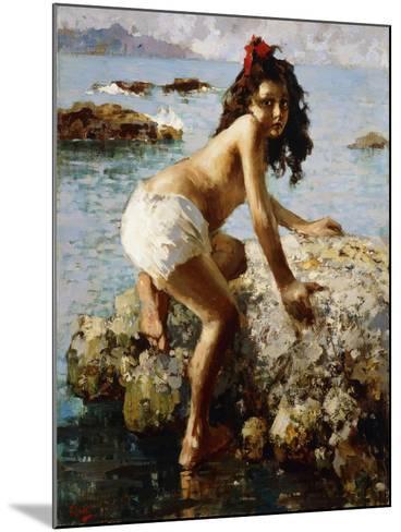 The Girl on the Rock-Vicenzo Irolli-Mounted Giclee Print