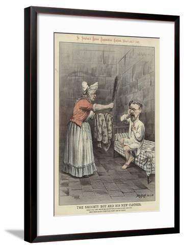 The Naughty Boy and His New Clothes-Tom Merry-Framed Art Print