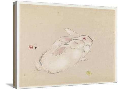 Two Rabbits--Stretched Canvas Print
