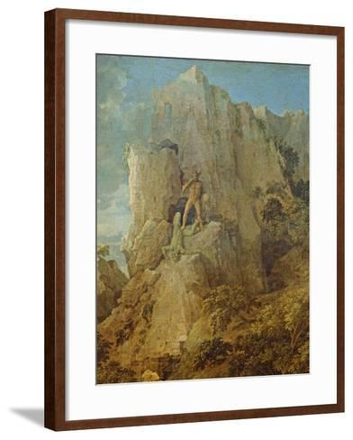 Landscape with Hercules and Cacus, C.1656-Nicolas Poussin-Framed Art Print