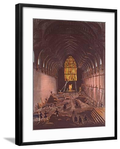 The Interior of Westminster Hall, 1834--Framed Art Print