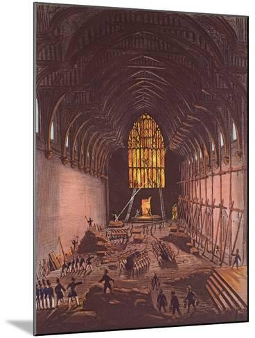 The Interior of Westminster Hall, 1834--Mounted Giclee Print