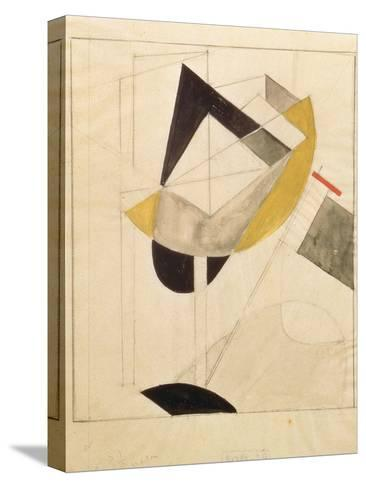 Proun 19, 1920-El Lissitzky-Stretched Canvas Print