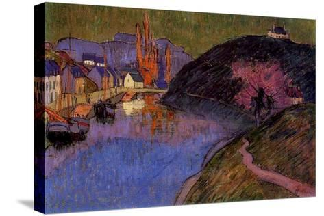The Port of Pont-Aven, Brittany, 1891-Emile Jourdan-Stretched Canvas Print