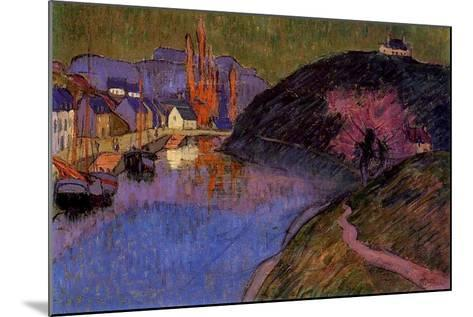 The Port of Pont-Aven, Brittany, 1891-Emile Jourdan-Mounted Giclee Print