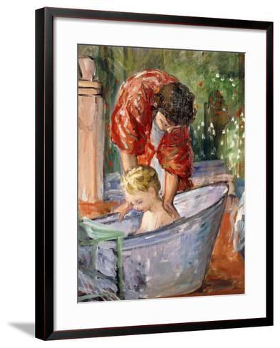The Bath; Le Bain-Henri Lebasque-Framed Art Print