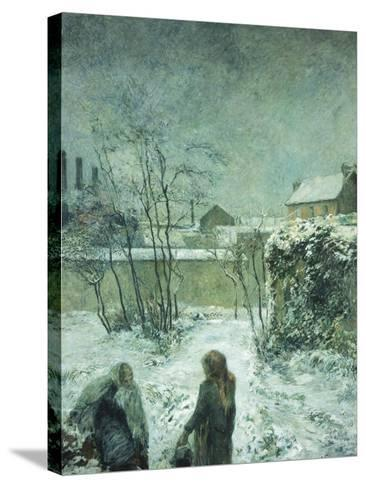 Snow, Carcel Road, 1883-Paul Gauguin-Stretched Canvas Print