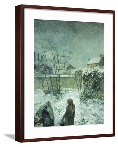 Snow, Carcel Road, 1883-Paul Gauguin-Framed Art Print