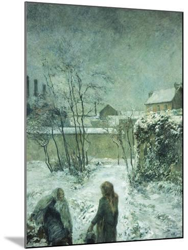 Snow, Carcel Road, 1883-Paul Gauguin-Mounted Giclee Print