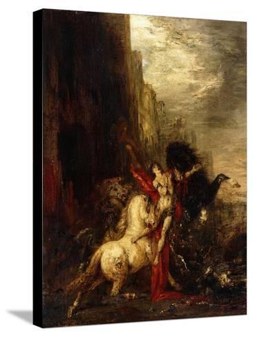 Diomedes Devoured by His Horses, C.1865-1870-Gustave Moreau-Stretched Canvas Print