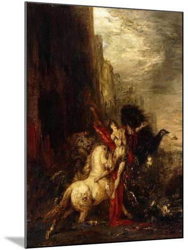 Diomedes Devoured by His Horses, C.1865-1870-Gustave Moreau-Mounted Giclee Print