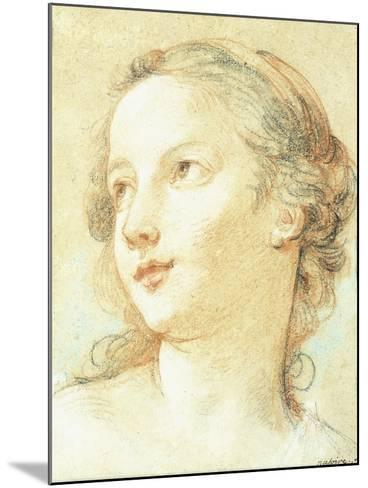 The Head of a Girl Looking to the Left-Charles Joseph Natoire-Mounted Giclee Print
