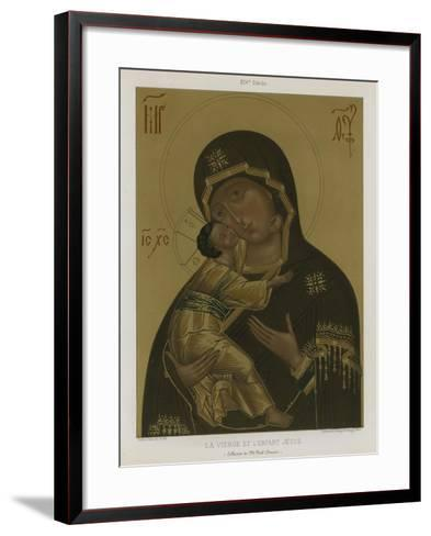 The Virgin Mary with the Baby Jesus--Framed Art Print