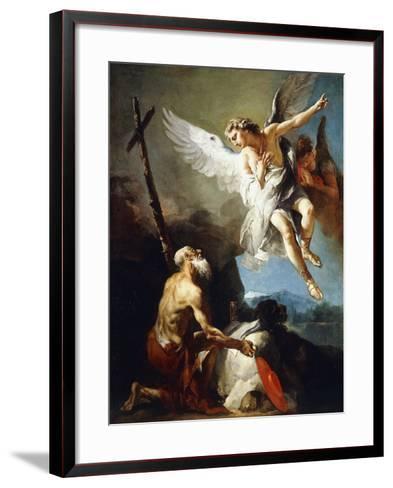 The Vision of Saint Jerome, C.1720-22-Giovanni Battista Tiepolo-Framed Art Print