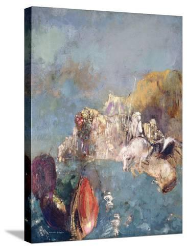 Saint George and the Dragon, 1909-1910-Odilon Redon-Stretched Canvas Print