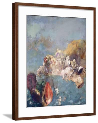 Saint George and the Dragon, 1909-1910-Odilon Redon-Framed Art Print