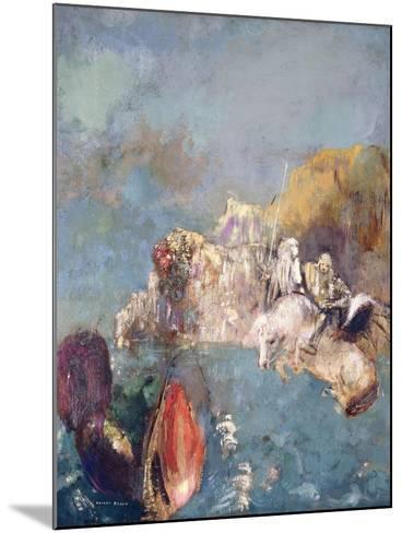 Saint George and the Dragon, 1909-1910-Odilon Redon-Mounted Giclee Print