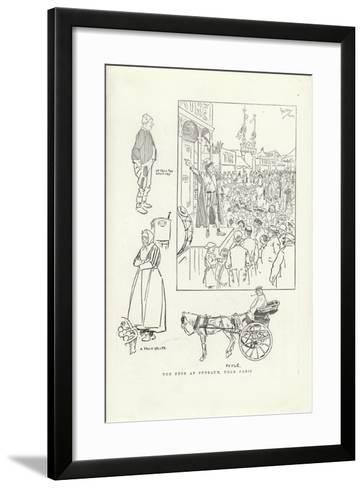 The Fete at Puteaux, Near Paris-Phil May-Framed Art Print