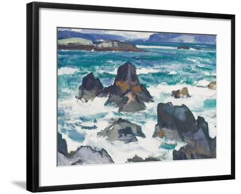 A Rough Day, Iona-Samuel John Peploe-Framed Art Print