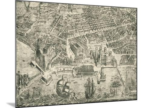 View of Naples and Castel Nuovo--Mounted Giclee Print