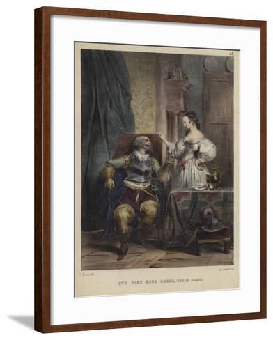 """May God Keep You, Beautiful Lady!""--Framed Art Print"