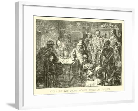 Tilly in the Grave Digger House at Leipzig--Framed Art Print