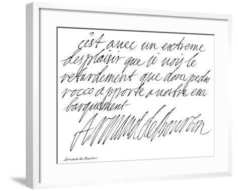 Armand De Bourbon--Framed Art Print