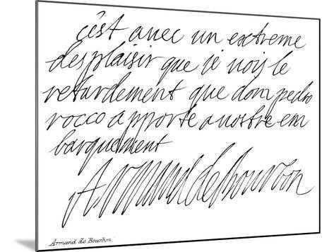 Armand De Bourbon--Mounted Giclee Print