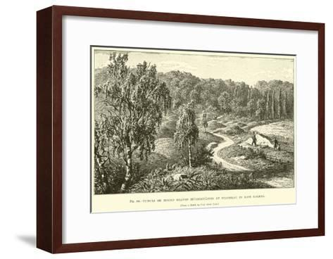 Tumuli or Mound Graves--Framed Art Print