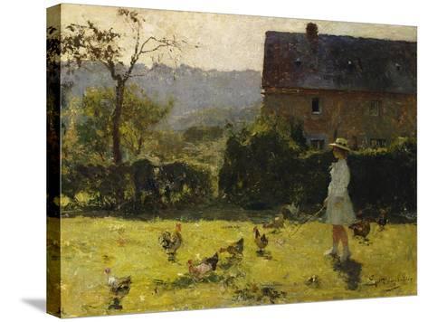 By the Farmhouse-Evariste Carpentier-Stretched Canvas Print