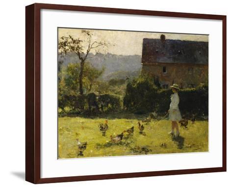 By the Farmhouse-Evariste Carpentier-Framed Art Print