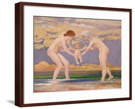 The Water's Edge: Two Women and a Baby-Charles Sims-Framed Art Print