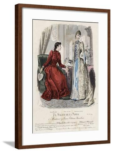 French Fashion Plate, Late 19th Century--Framed Art Print