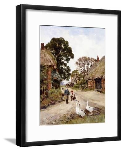Off to School-Henry John Yeend King-Framed Art Print
