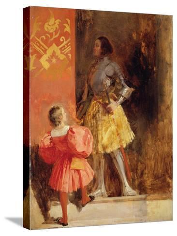 A Knight and Page, C.1826-Richard Parkes Bonington-Stretched Canvas Print