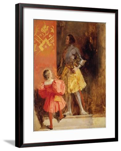 A Knight and Page, C.1826-Richard Parkes Bonington-Framed Art Print